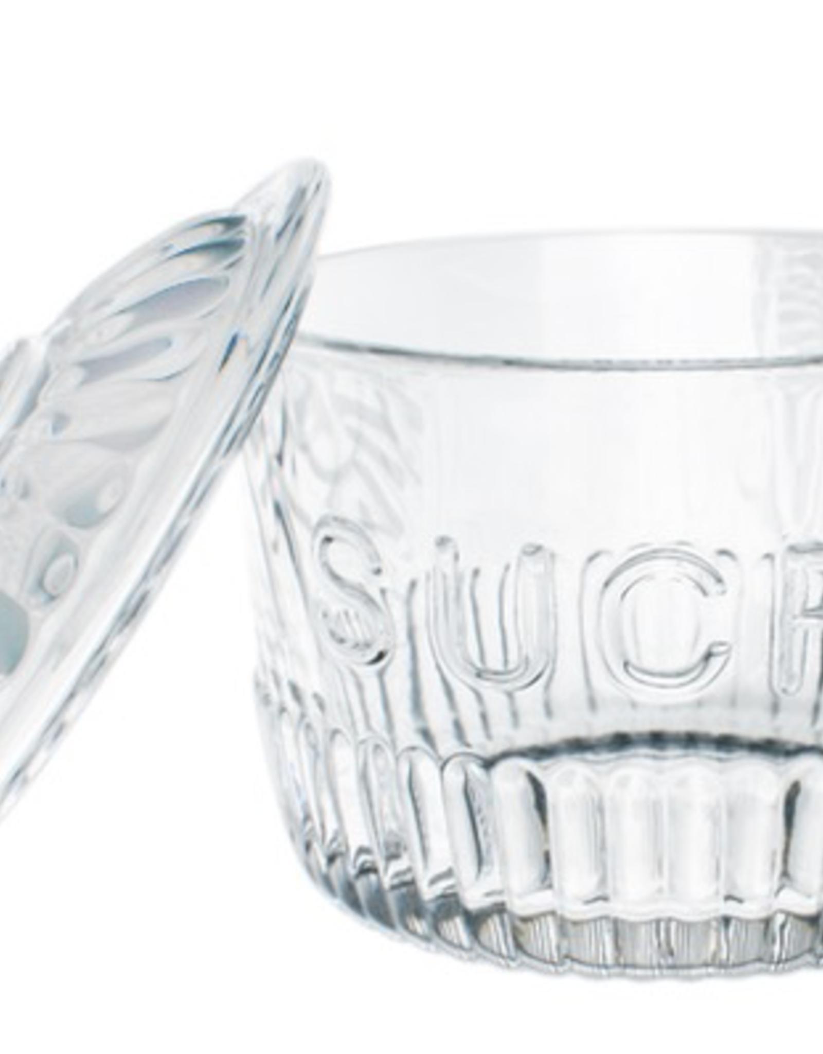 "Sugar Jar, ""Sucre"", Glass"