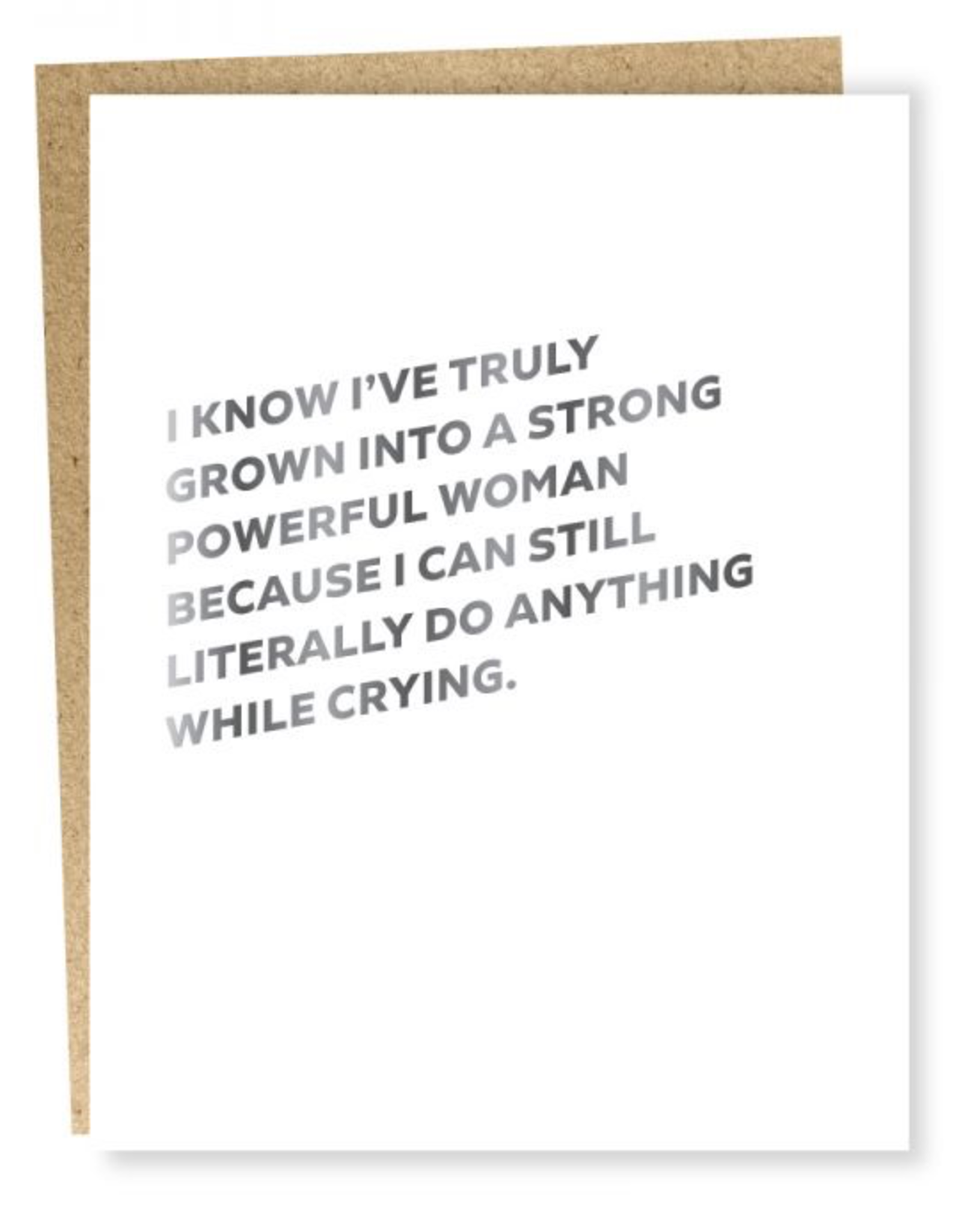 Card, Self Care Powerful Woman Card
