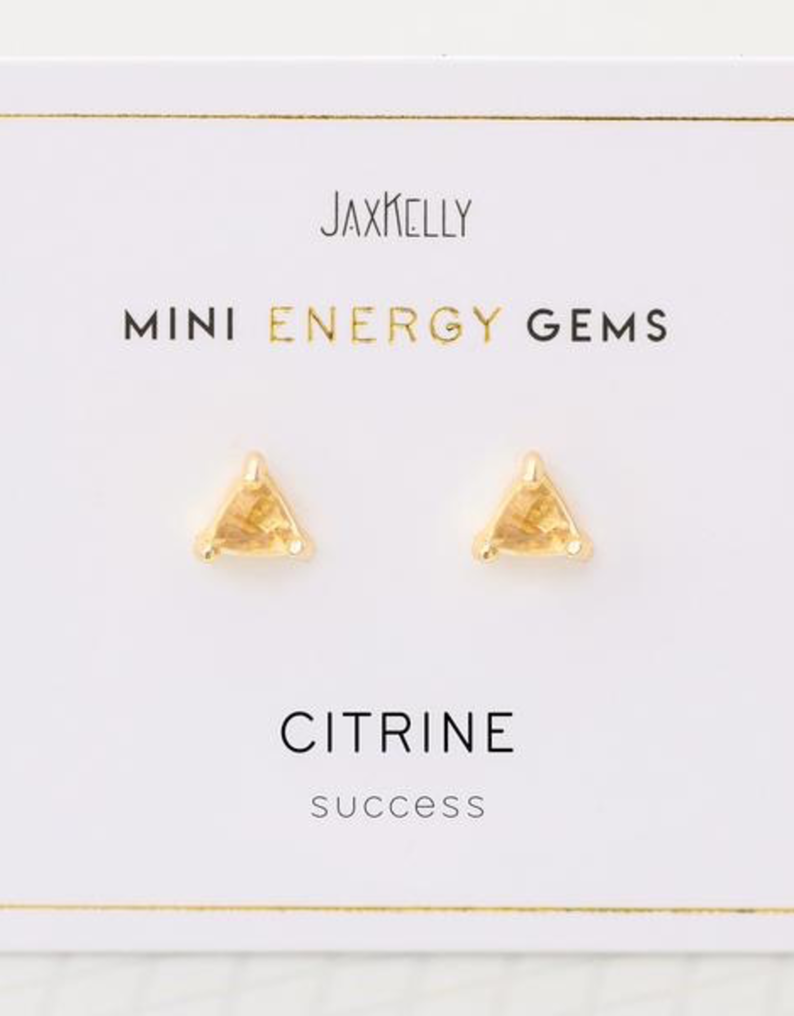 Earrings, Mini Energy Gem, Citrine, Sterling Silver Base with18k Gold Plating
