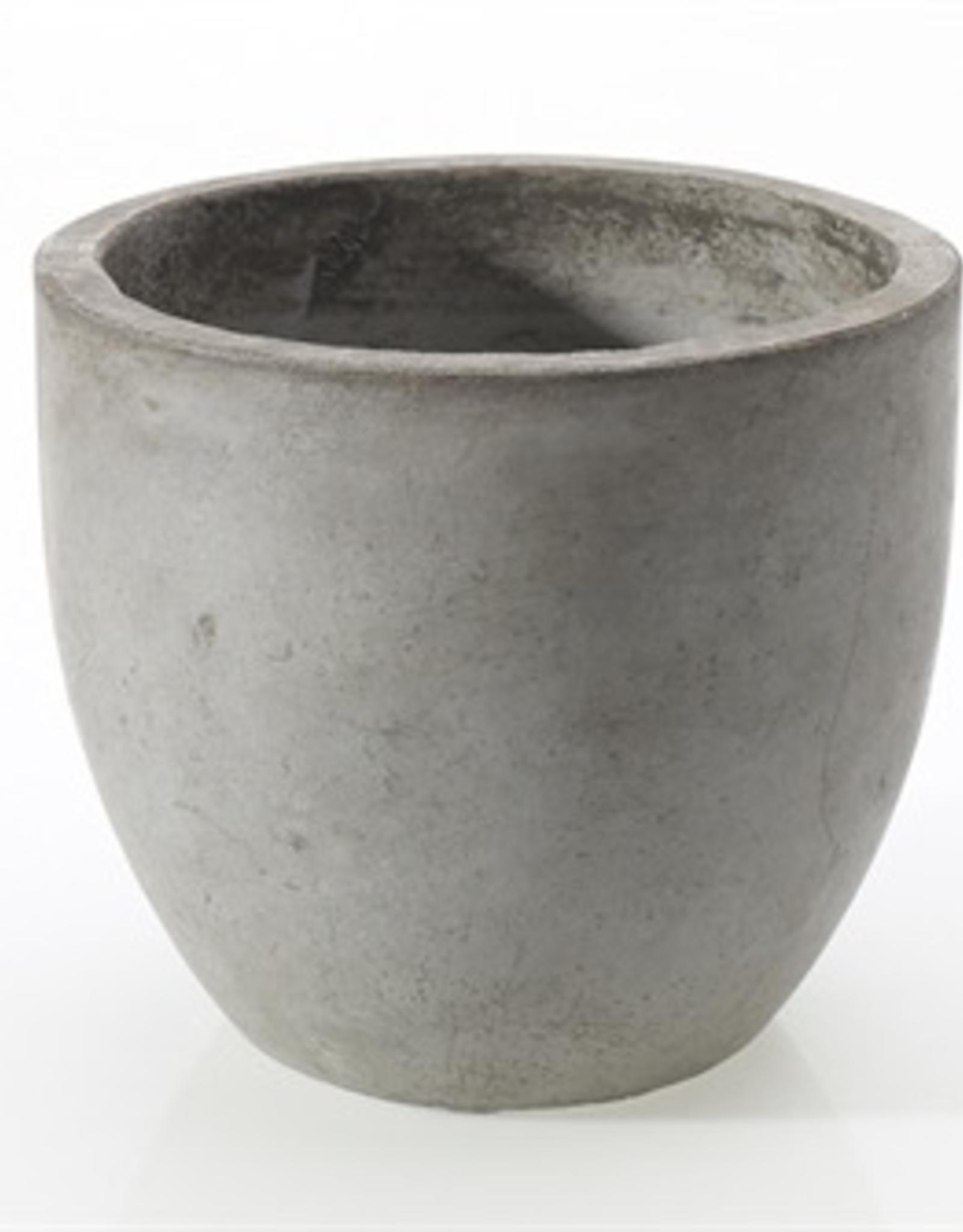 """Newport Pot, Grey, 6""""x 5.5"""""""