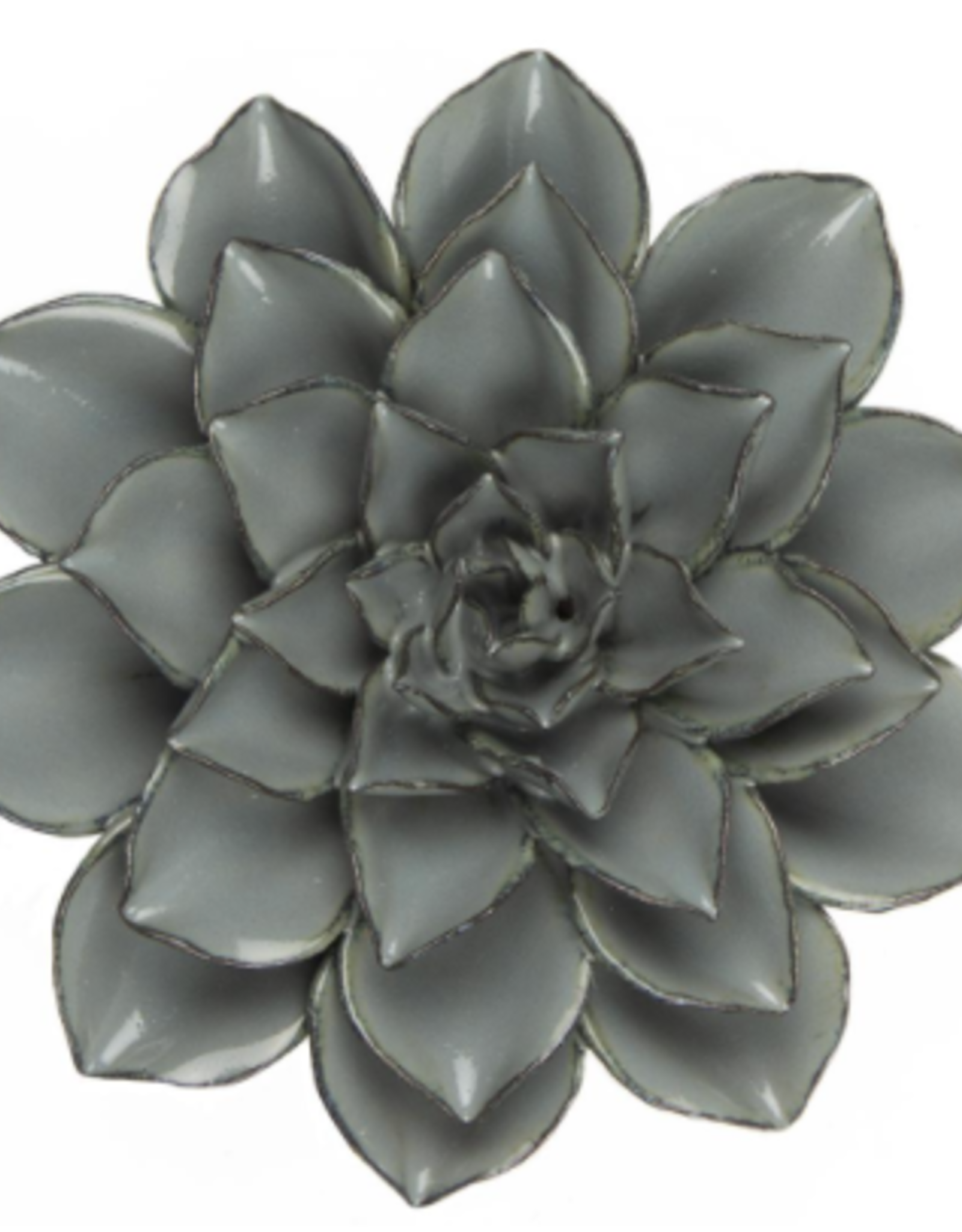 Ceramic Flower, Large Dusk Blue