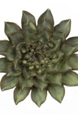 Medium Green Ceramic Flower