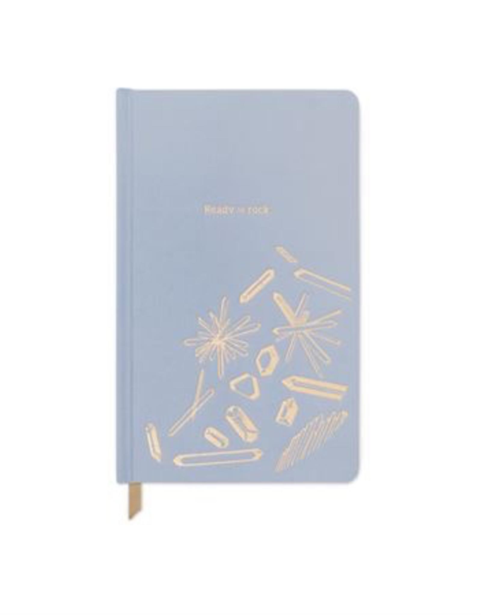 "Journal, Dusty Blue 'Ready to Rock', L5.125"" H8.25"""