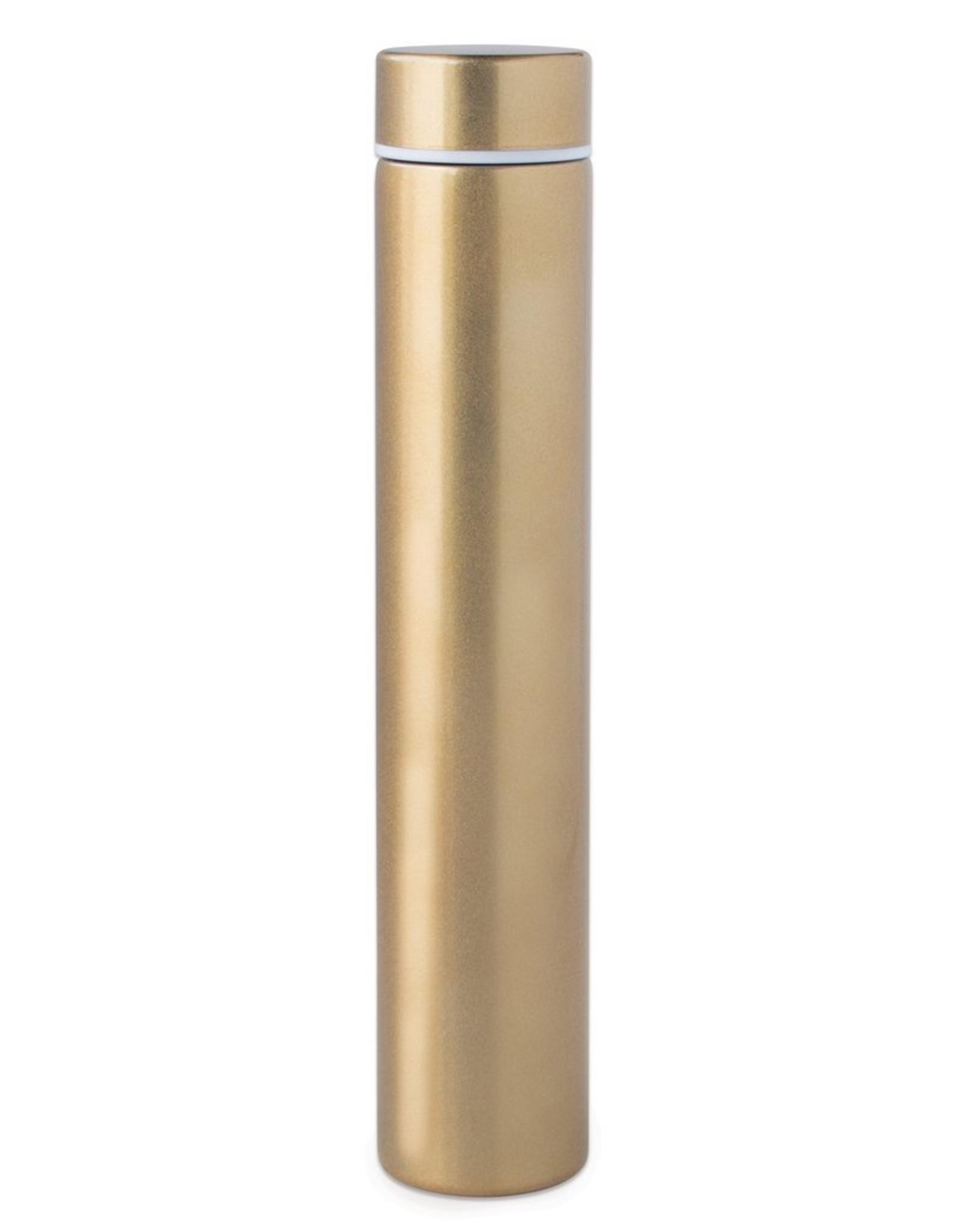 Bottle, Slim Flask in Tube, Gold