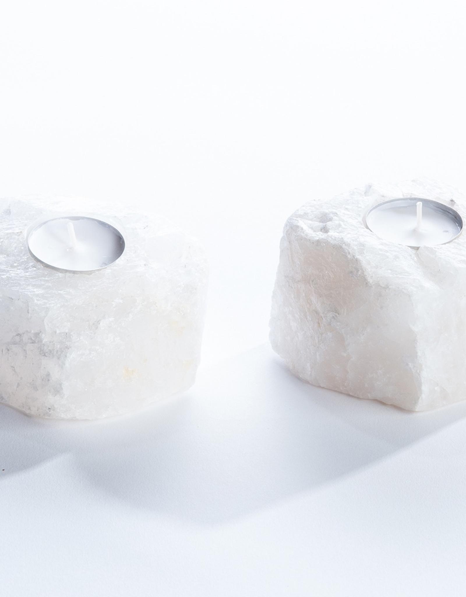 Quartz Crystal Candle Holder