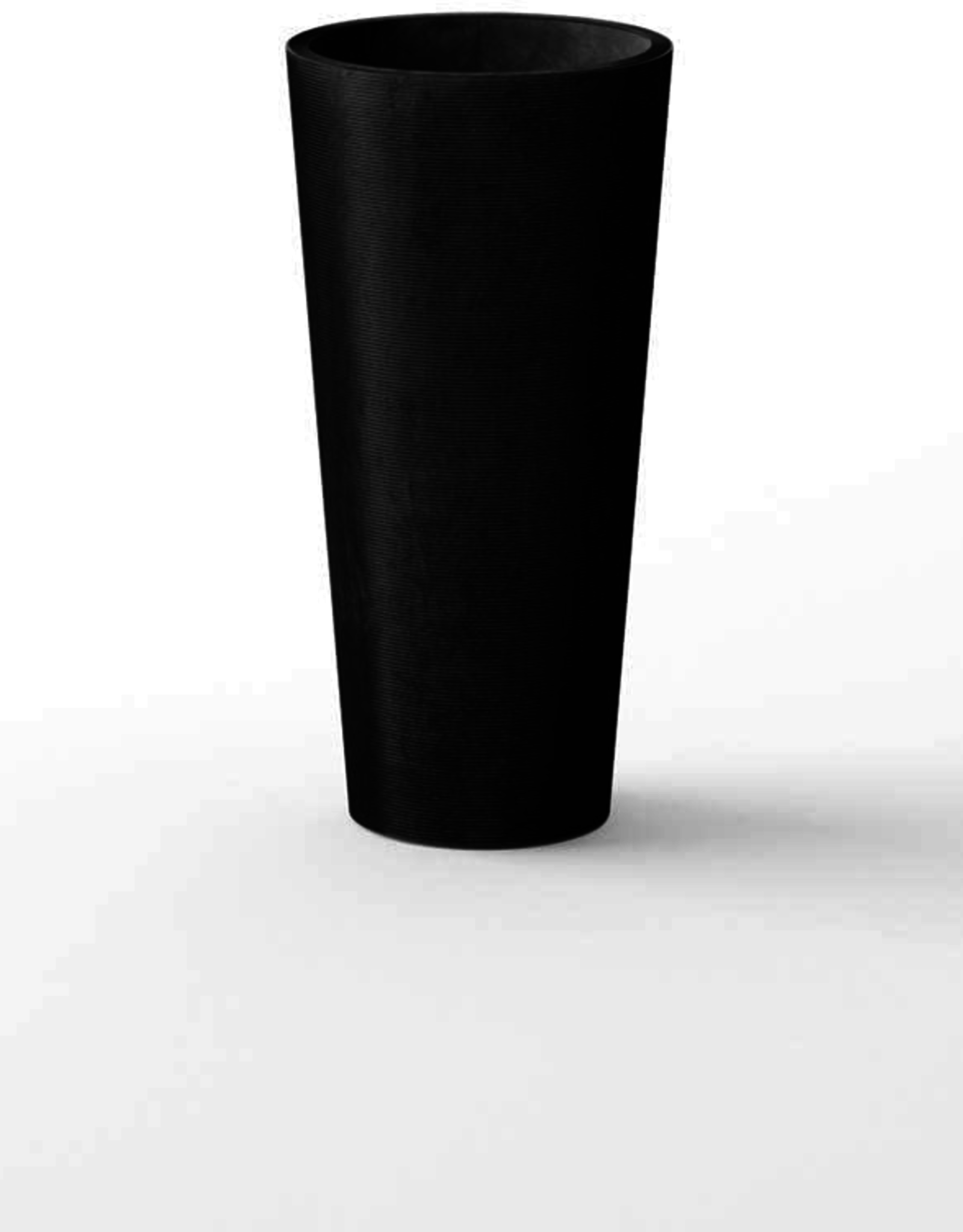 "Tall Black Plastic Kobo Planter D14"" H28"""