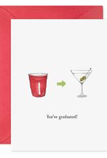 Card, You've Graduated Martini