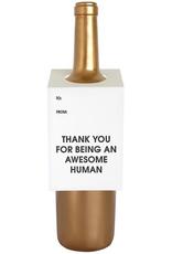 Awesome Human Wine Tag Card