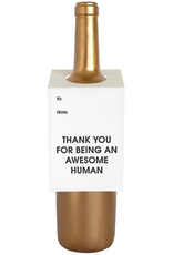 Card, Wine Tag, Awsome Human
