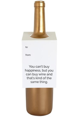 Card, Wine Tag, Can't Buy Happiness