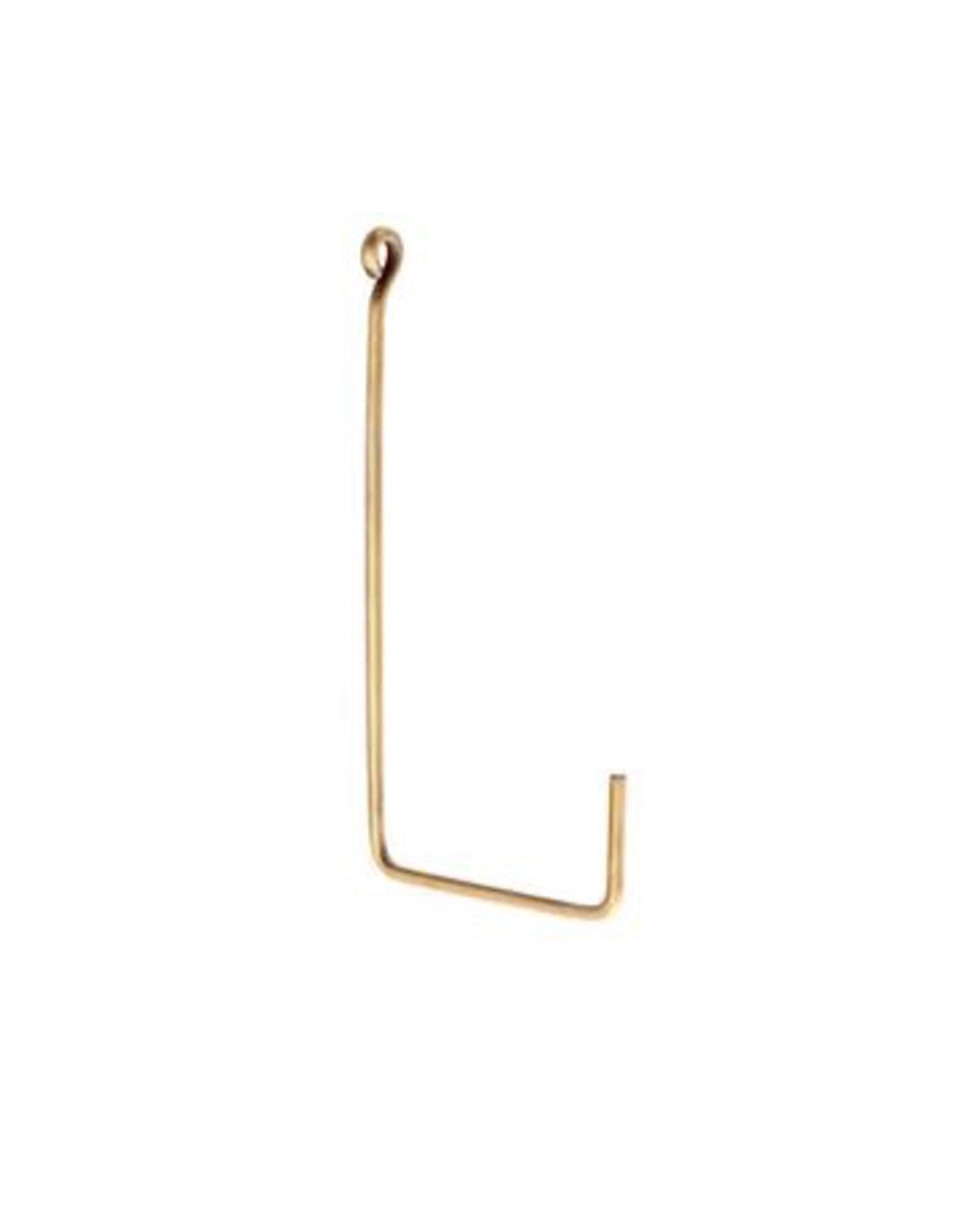 """Hook, Brass, """"L Shape"""", SIngle, Large"""