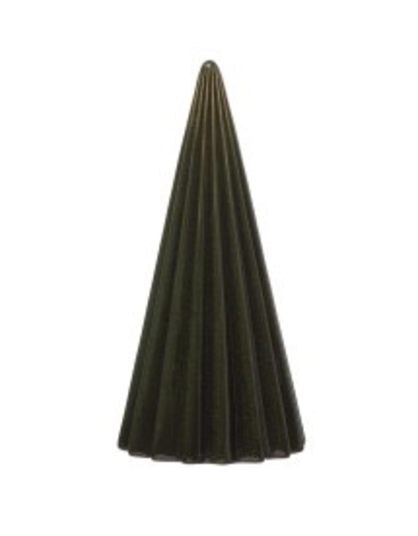 "8"" Green Reactive Glaze Stoneware Round Ribbed Christmas Tabletop Tree"