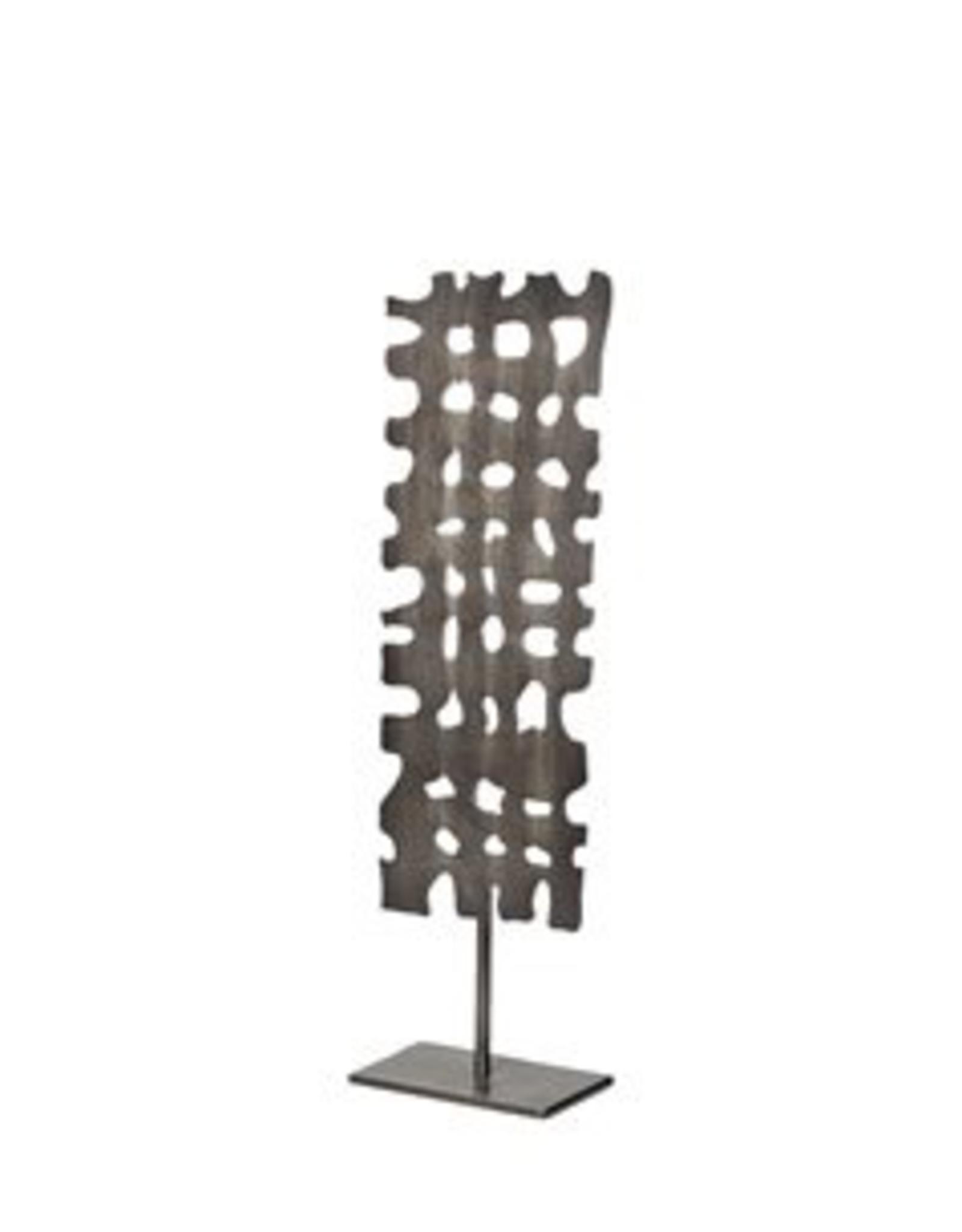 "Decorative Object, Shaw I, Gun Metal Grey, H17.9"""