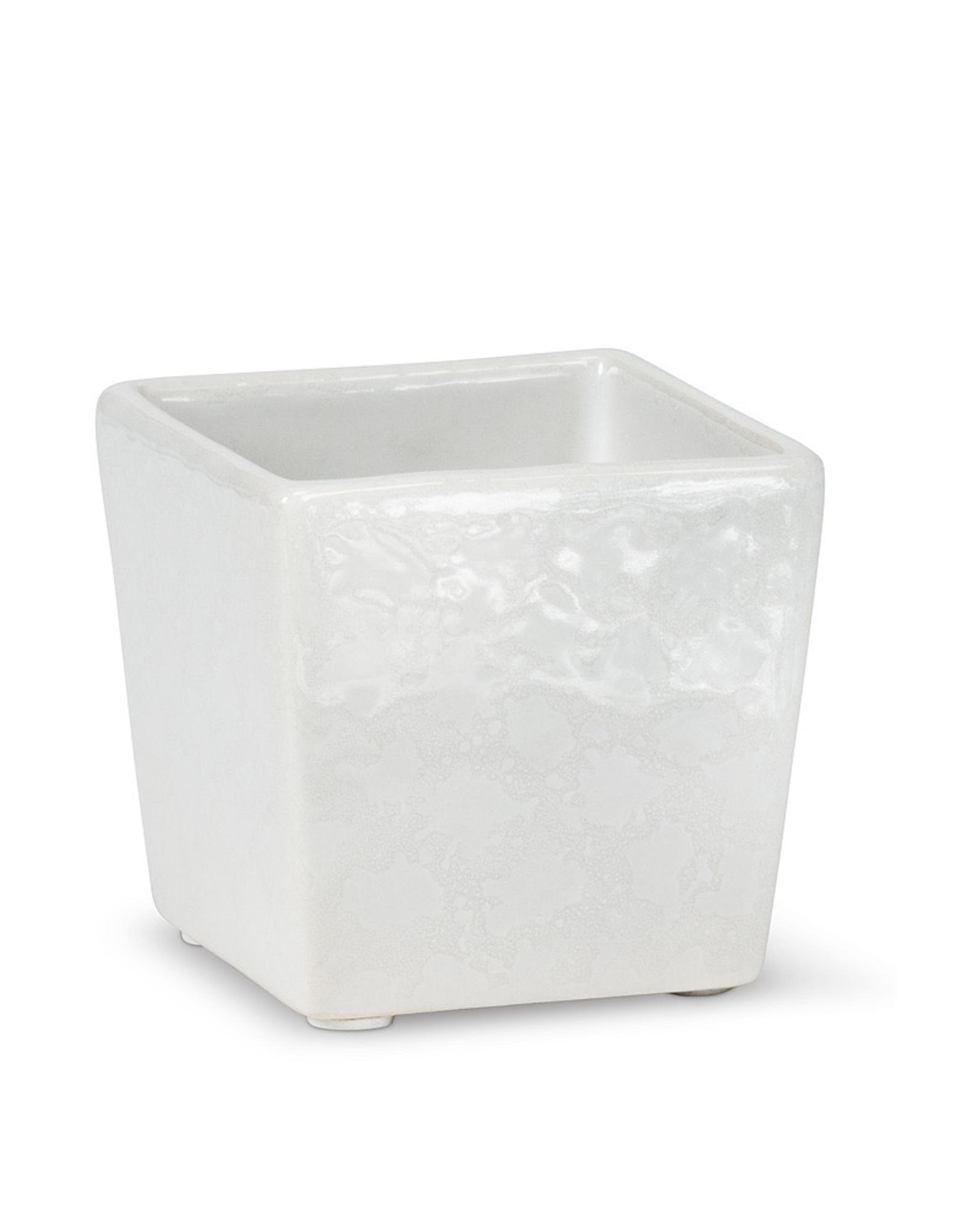 Planter, Mini Square, White