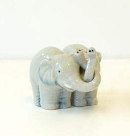 Ceramic Hugging Elephant Salt & Pepper Shaker