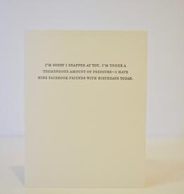 Card,Mild Confessions, Facebook Friends