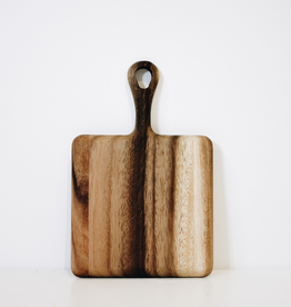 Mini Square Acacia Board With Handle