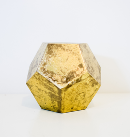Gold Leaf Display Cube