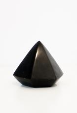 Black Soapstone Diamond Geometric Object