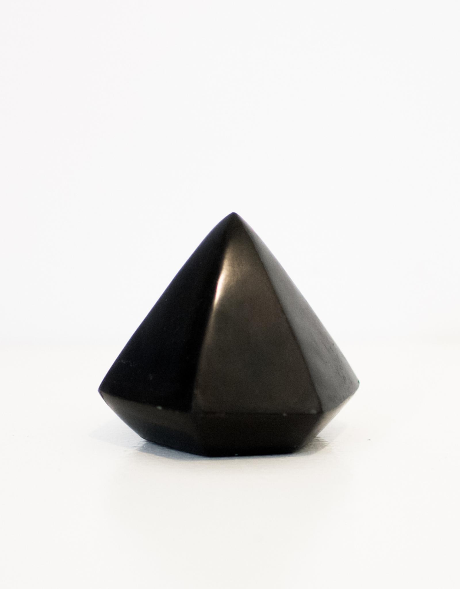 Geometric Object, Black Soapstone, Diamond
