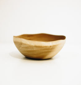Small Mango Wood Wave Edge Bowl