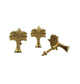 Knob, Wanda Palmtree, Brass