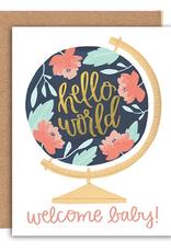 Card, Welcome Baby Globe