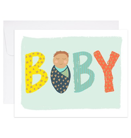 Card, Baby Swaddle