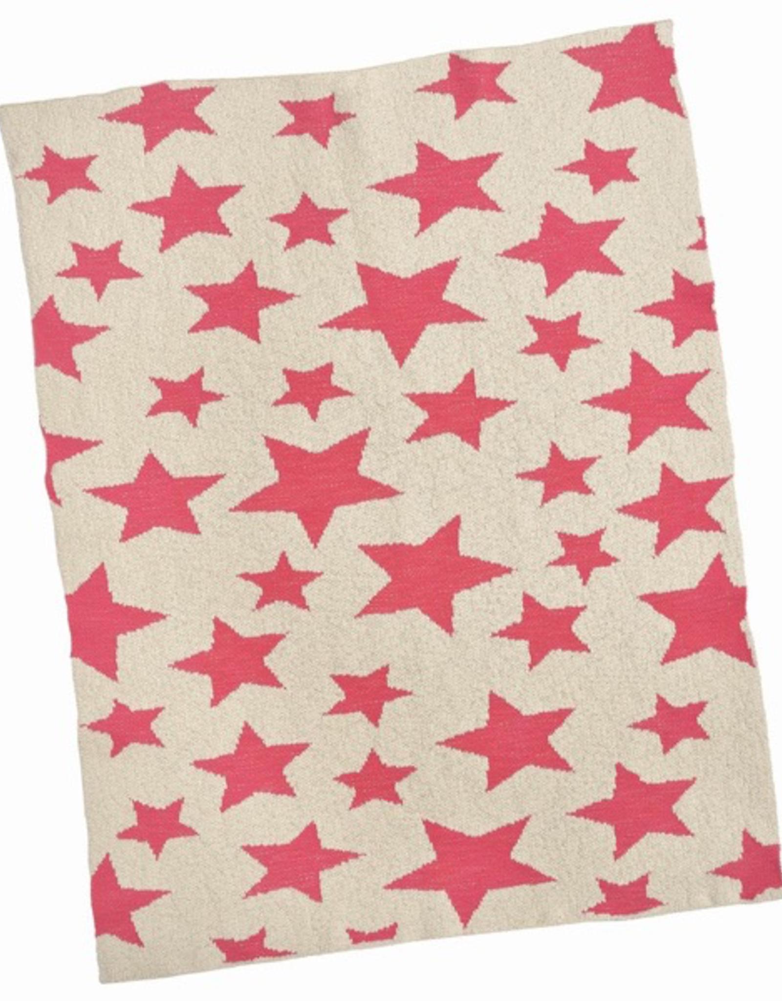 Blanket, baby, Pink Multi Star, Cotton
