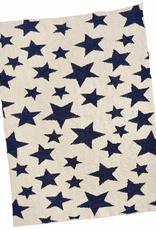 Navy Cotton Multi Star Baby Blanket