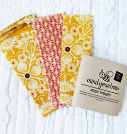 Set of 3 Small Bees Wrap