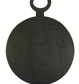 Cheese Board, Brushed Black Wood, Round X-Large