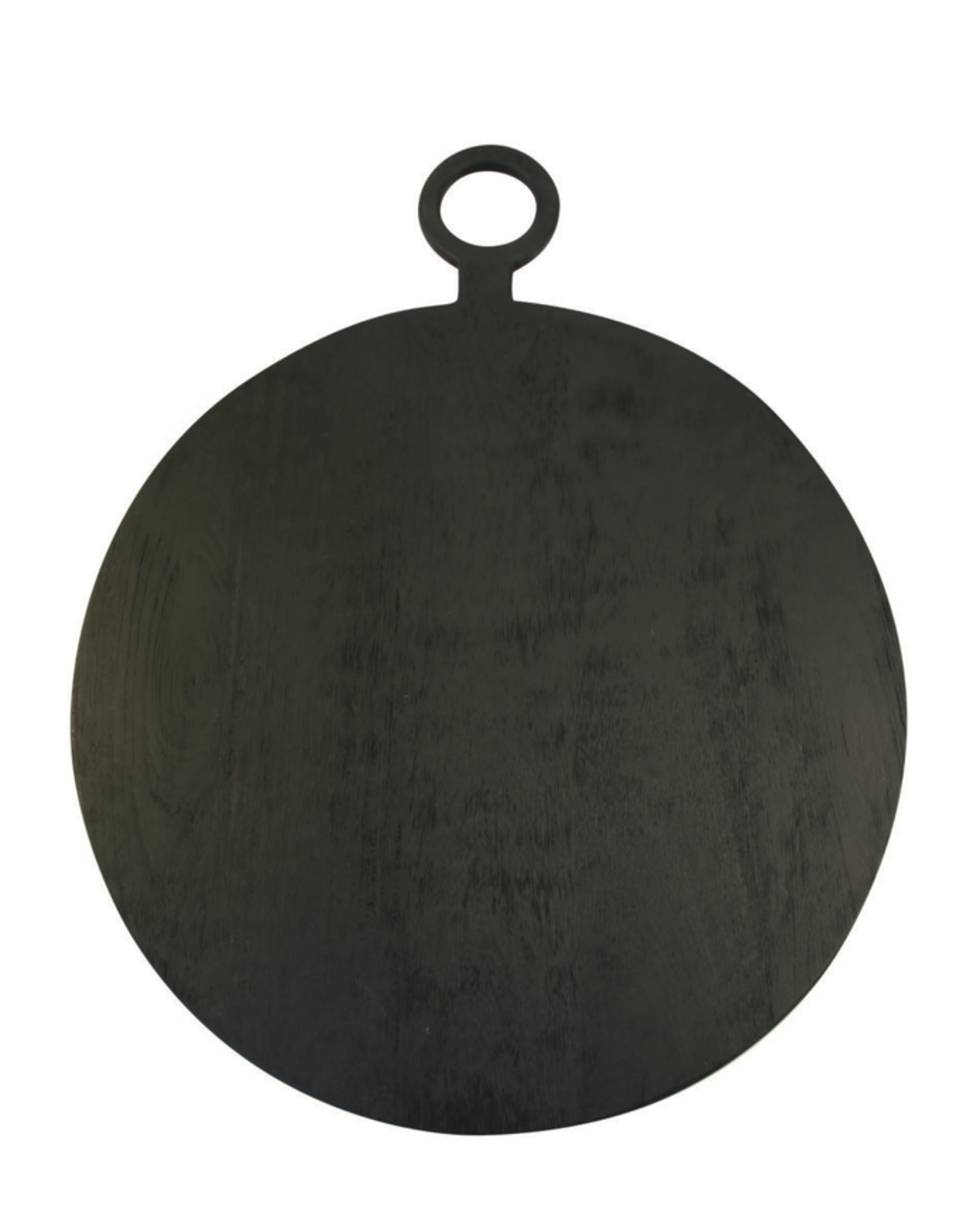 Cheese Board, Brushed Black Wood, Round Large