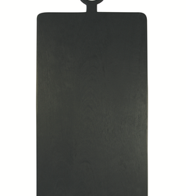 X-Large Brushed Black Wood Rectangle Cheese Board
