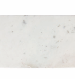 Cheese Board, White Marble, Rectangular with Handle Grooves