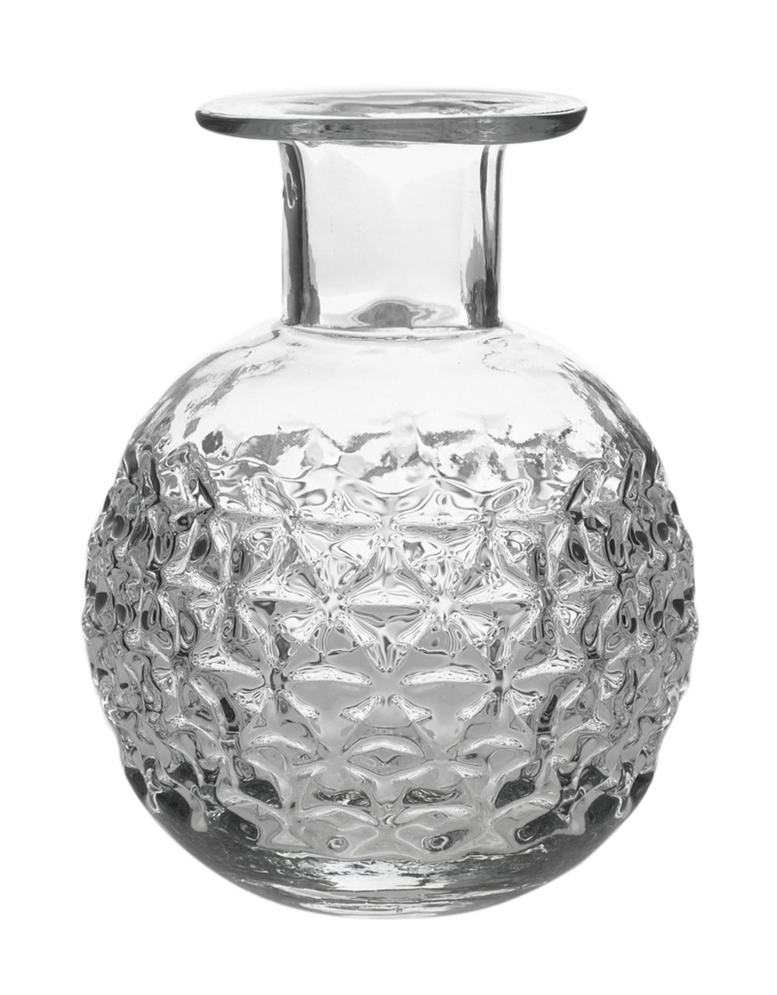 Bottle, Elan, Etched Glass, Round