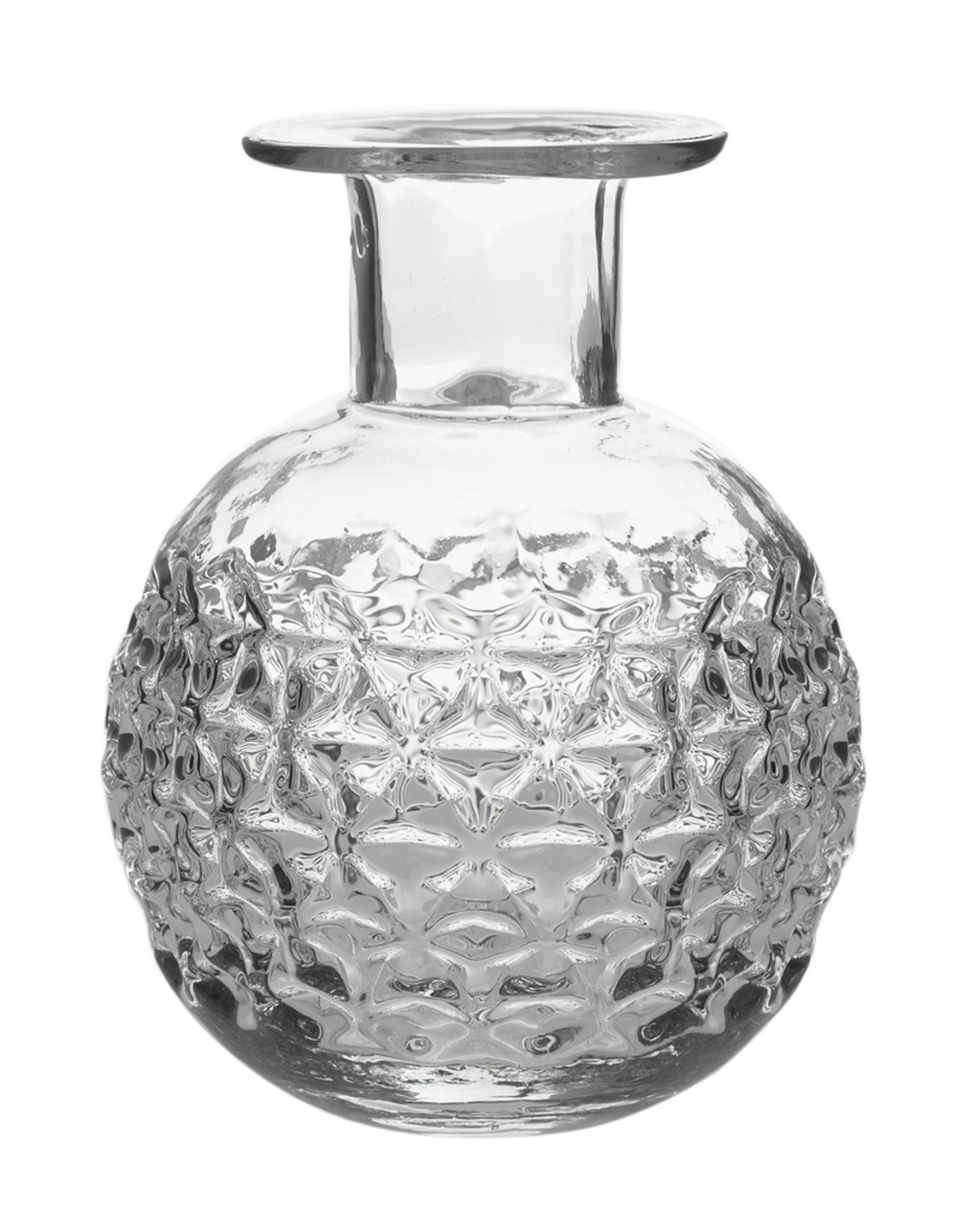 Round Etched Glass Elan Bottle