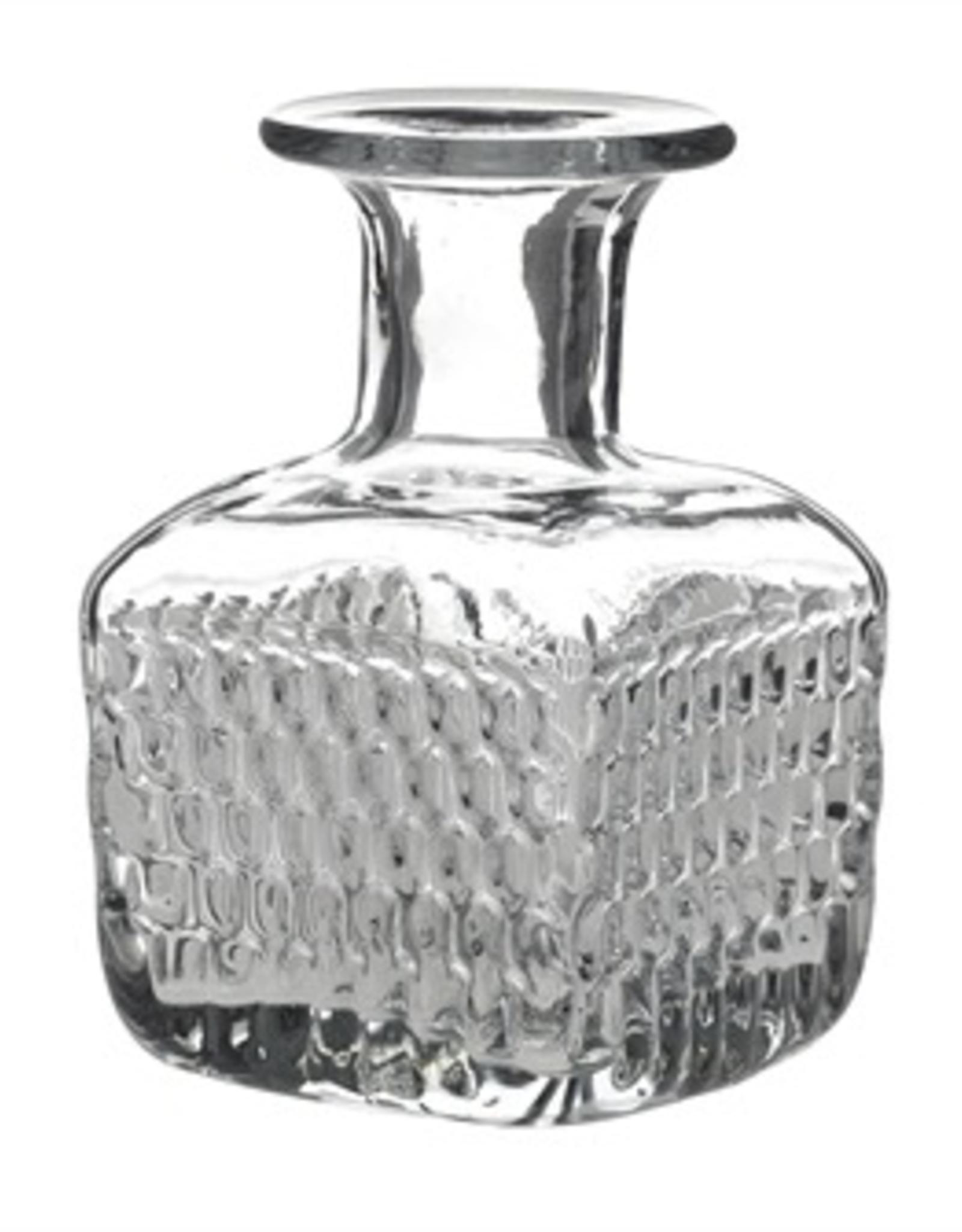Square Etched Glass Elan Bottle
