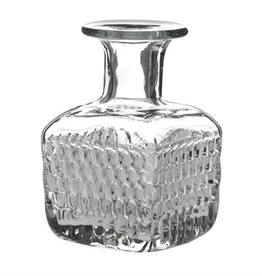 Square Etched Glass Elan Bottle