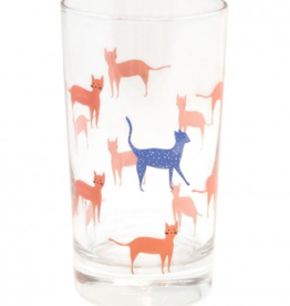 Glass, Collage City Cat, 7oz