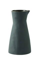 Small Gold Rim Stoneware Carafe