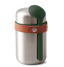 Bam Food Flask- Steel/Olive