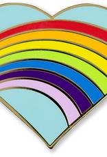 Pin, Rainbow Heart, Enamel