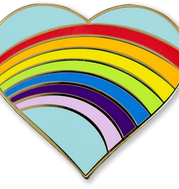 Pin, Rainbow Heart, Enamel