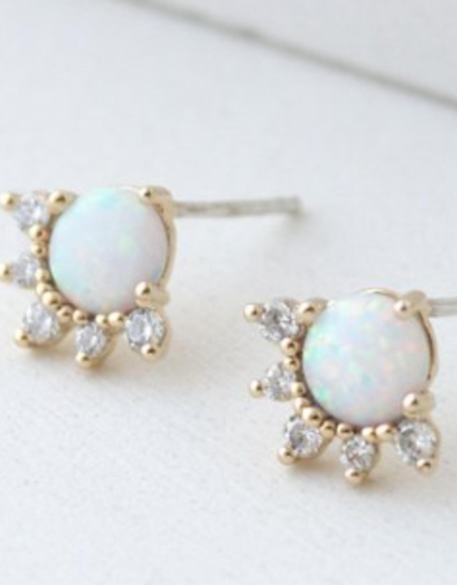 Juno Stud Earrings - Opal