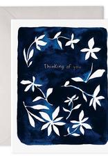 Indigo Flowers Card
