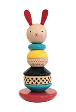 Toy, Rabbit Wood Stacking Toy