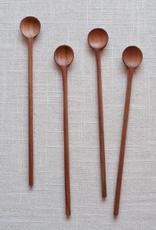 """Spoon, Long Teak, 6.25"""""""