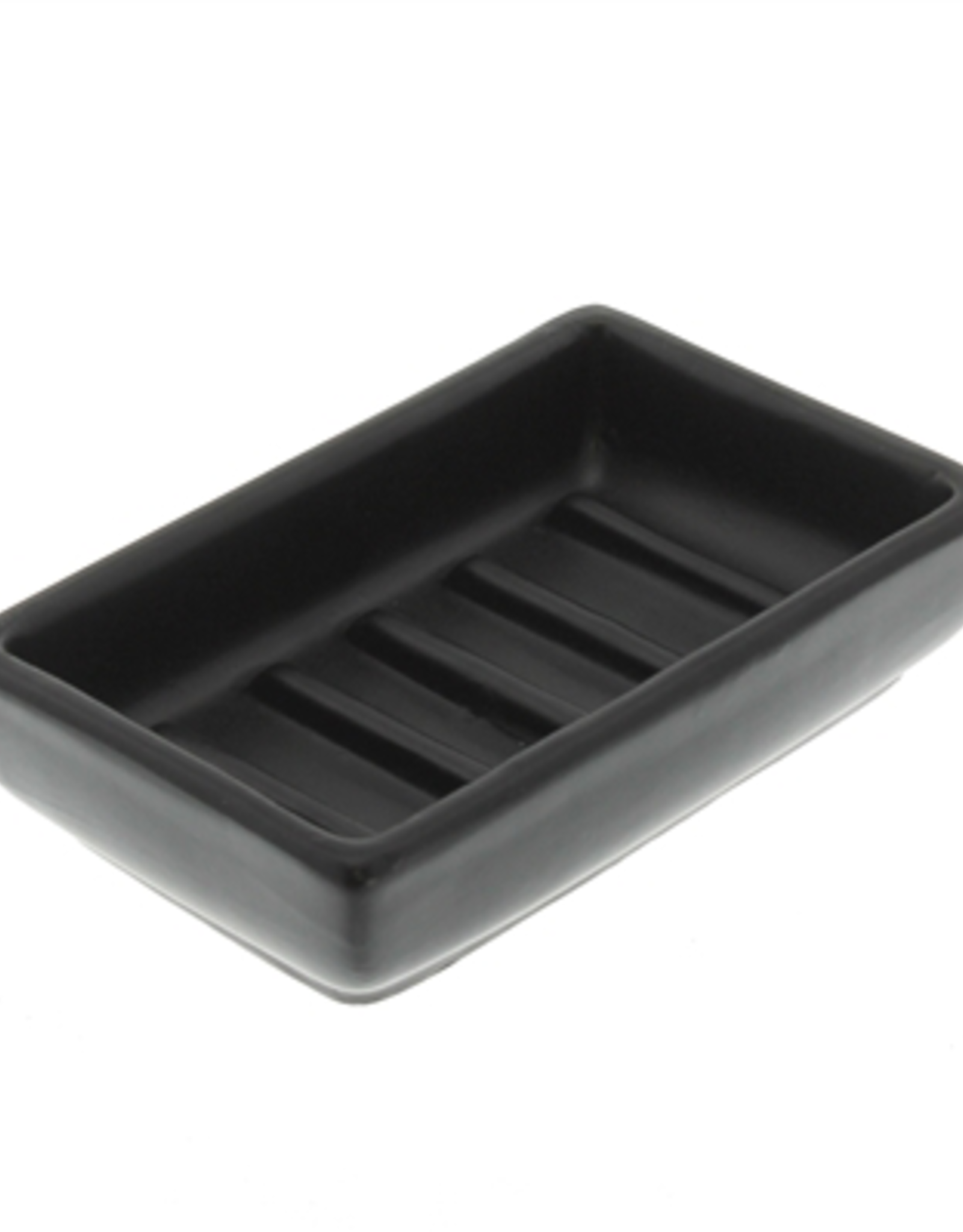 Soap Dish, Luna, Ceramic, Rect., Matte Black