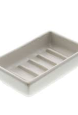 Luna Rectangular Soap Dish Matte White Ceramic